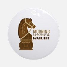 Morning & Knight Ornament (Round)