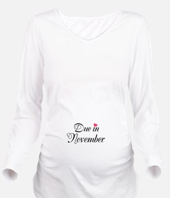 Due in (Fill in the Month) Long Sleeve Maternity T
