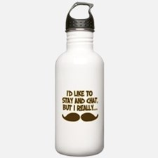 Funny Mustache Humor Water Bottle