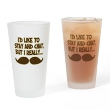 Funny Mustache Humor Drinking Glass