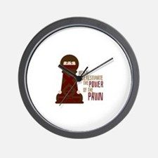 Power Of Pawn Wall Clock