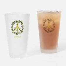 Flower Peace Solarium Yellow Drinking Glass