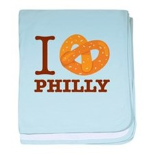 I Love Philly baby blanket
