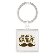 Funny Mustache Humor Keychains