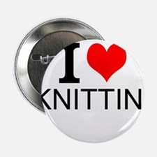 """I Love Knitting 2.25"""" Button (100 pack)"""