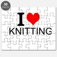 I Love Knitting Puzzle