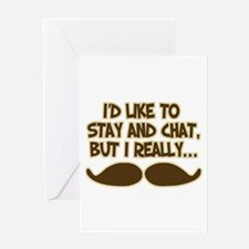 Funny Mustache Humor Greeting Cards