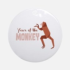 Year Of The Monkey Ornament (Round)