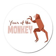 Year Of The Monkey Round Car Magnet