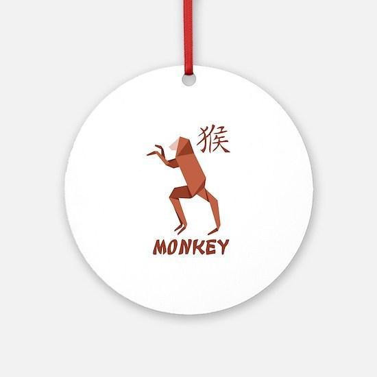 Monkey 2 Ornament (Round)