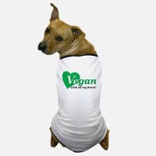 Vegan with all my heart Dog T-Shirt