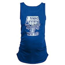 Lazy Wine Drinking Humor Maternity Tank Top