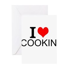 I Love Cooking Greeting Cards