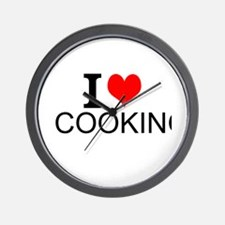 I Love Cooking Wall Clock