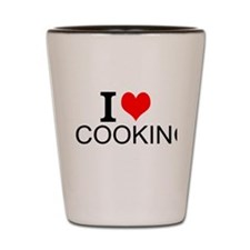 I Love Cooking Shot Glass