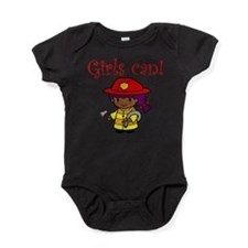 Cute Girls can do anything Baby Bodysuit