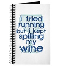 Lazy Wine Drinking Humor Journal