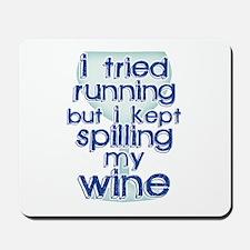 Lazy Wine Drinking Humor Mousepad