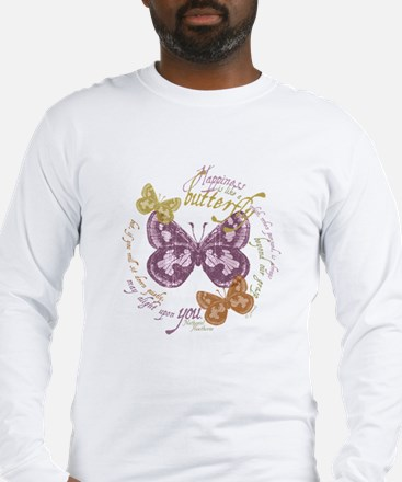 butterflies-vinatge2 copy Long Sleeve T-Shirt