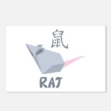 Chinese Rat Symbol Postcards (Package of 8)