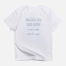 baby blue running out of womb 2 Infant T-Shirt
