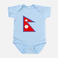 Nepal Flag Body Suit