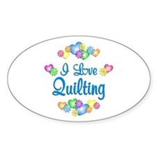 I Love Quilting Decal