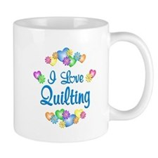 I Love Quilting Small Mugs