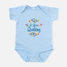 I Love Quilting Infant Bodysuit