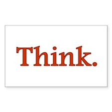 Think Rectangle Decal