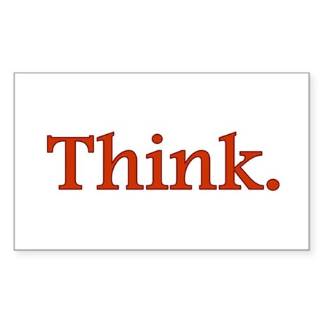 Think Rectangle Sticker