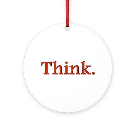 Think Ornament (Round)