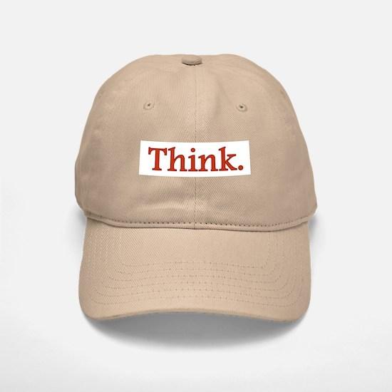 Think Baseball Baseball Cap