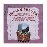 Indian Prayer with eagle Tile Coaster