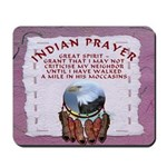 Indian Prayer with eagle Mousepad