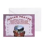 Indian Prayer with eagle Greeting Cards (6)