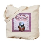 Indian Prayer with eagle Tote Bag