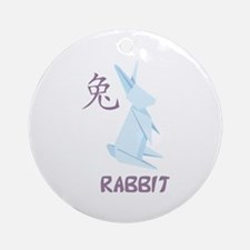 Rabbit 2 Ornament (Round)