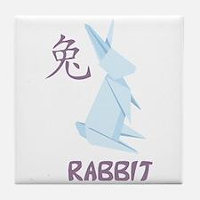 Rabbit 2 Tile Coaster