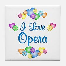 I Love Opera Tile Coaster