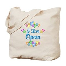 I Love Opera Tote Bag