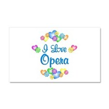 I Love Opera Car Magnet 20 x 12