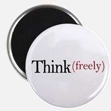 """Think freely 2.25"""" Magnet (10 pack)"""