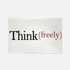 Think freely Rectangle Magnet (10 pack)