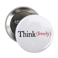 """Think freely 2.25"""" Button (10 pack)"""