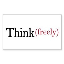 Think freely Rectangle Stickers