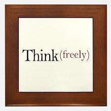 Think freely Framed Tile