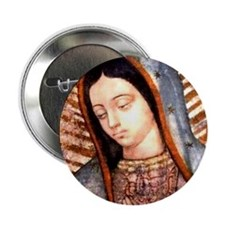 "Guadalupe Virgin Mary 2.25"" Button (10 Pack)"