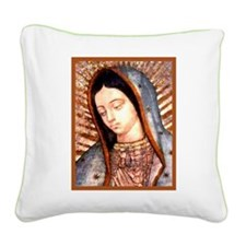 Guadalupe Virgin Mary Square Canvas Pillow