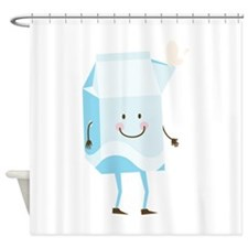 Happy Milk Shower Curtain